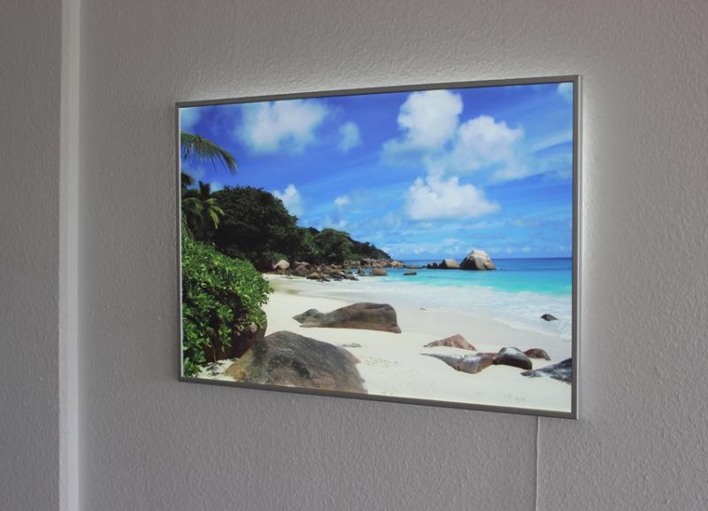 leuchtbild flat mit rahmen imagelight led bild und druck. Black Bedroom Furniture Sets. Home Design Ideas