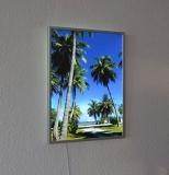 Leuchtbild Flat mit Rahmen